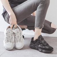 ZHR2019新款老爹鞋女小熊鞋ins潮透气小白鞋正品休闲椰子运动鞋夏