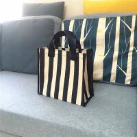 帆布包单肩学生大容量环保便携购物袋防水买菜手提袋女包