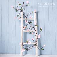 仿真玉兰花塑料藤蔓植物客厅室内水管道空调装饰假花藤条墙面橱窗Q