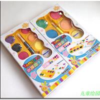 儿童卡乐淘8色/12色水彩颜料套装固体可水洗学生文具美术专用