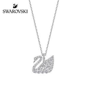 SWAROVSKI/施华洛世奇 个性简约优雅精致白金经典天鹅项链 镀白金色 5296469