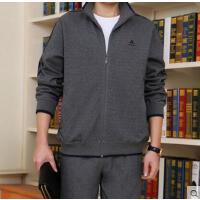 新品 时尚休闲商务运动 长袖长裤运动服跑步卫 大码男士中老年运动套装