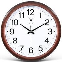 电子挂钟客厅万年历现代简约大气时钟静音石英钟表挂表家用 16英寸(直径40.5厘米)