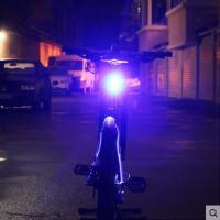 夜间骑行装备死飞单车配件USB充电自行车尾灯山地车LED警示灯