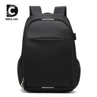 新款韩版休闲旅行防水双肩包男USB商务行李电脑双肩背包定制