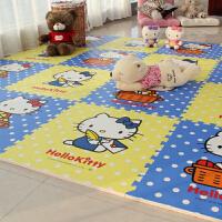 卡通儿童婴儿泡沫爬行垫大号加厚凯蒂猫地垫卧室家用榻榻米游戏垫 60CM长宽1CM厚度【15片】
