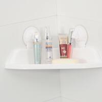 吸盘浴室置物架三角壁挂卫生间收纳架子卫浴洗手间储物免打孔厕所厨房收纳架壁挂式转角架颜色随机