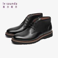 莱尔斯丹 时尚简约圆头系带男鞋脚踝靴男靴LS ATM90505