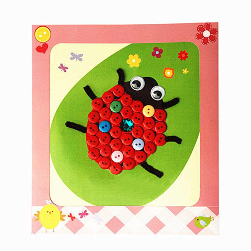 梦童工坊 diy纽扣画 儿童手工制作钮扣子幼儿园粘贴画装饰画玩具
