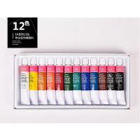 美邦祈富12色18色24色丙烯颜料套装12ml 学生练习手绘墙绘DIY创作