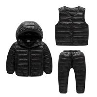 儿童羽绒服套装女男童宝宝中小童装保暖内胆外套三件套