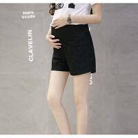 2018新款孕妇短裤夏天薄款弹力蕾丝打底裤外穿调节怀孕期托腹裤子