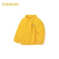 【品类日4件4折】巴拉巴拉宝宝外套男童上衣女童棉服婴儿衣服经典摇粒绒