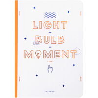 kinbor 120张B6裸背方格纸手帐记事本子/硬面手账本/日记本/Light bulb moment DTB400