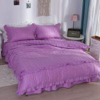 君别床上四件套ins风冬季床单式被套加厚夹棉床罩床裙款冬天 2.0m床 床裙200*220 被套220*240