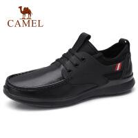 camel骆驼骆驼男鞋 秋季新品休闲牛皮鞋轻盈系带工作皮鞋