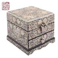 首饰盒 满贝螺钿 珠宝盒收纳盒 漆器 贝壳收藏工艺母亲节礼物