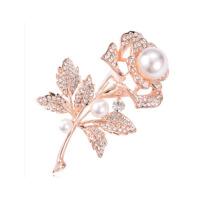 胸针女士别针气质胸花礼物配饰品优雅玫瑰花水晶胸针