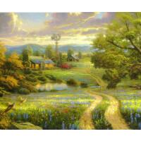 1000片木质拼图定制500风景油画装饰画 山雨欲来