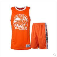 新款 训练背心篮球衣 队服套装定制 可印号印字 带口袋街头篮球服