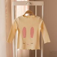 童装女宝宝婴儿纯色打底衫 2018春季新款韩版女小童纯棉上衣T恤潮