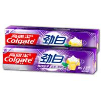 高露洁(Colgate)劲白小苏打牙膏120g*2(晶亮薄荷,去黄亮白)