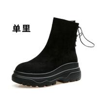 短靴女2018秋冬新款女靴马丁靴女松糕厚底英伦风学生韩版雪地靴女