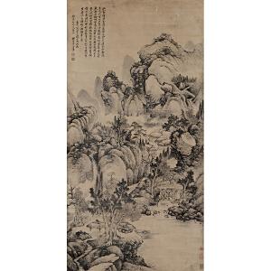 王翚《山水》纸本立轴