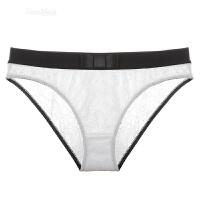 黑白性感款诱惑内裤蕾丝低腰透气提臀三角裤女式舒适 白色 白色 S