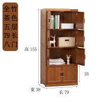 楠竹厨房餐边柜现代简约置物柜微波炉柜架子茶水柜实木收纳储物柜 4门
