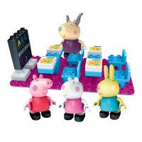 邦宝拼装积木粉红猪小妹佩琪乔治过家家玩具儿童礼物猪爷爷的小火车/小猪佩奇在学校