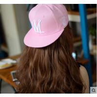 帽子 嘻哈帽 棒球帽 韩版女士糖果色嘻哈街舞棒球帽刺绣字母平沿檐帽滑板帽潮