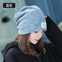 帽子女秋冬季韩版潮甜美可爱包头帽简约时尚纯色百搭包头帽护耳帽