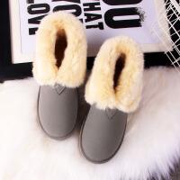 2018冬季雪地靴加绒加厚靴子平底冬鞋学生保暖棉鞋防滑女鞋雪地棉