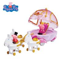 小猪佩奇Peppa Pig粉红猪小妹佩佩猪儿童过家家玩具公主马车套装