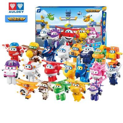 奥迪双钻超级飞侠儿童玩具迷你变形机器人小飞侠全套乐迪小爱酷飞多多包警长胡须爷爷卡文小青