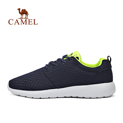 camel骆驼运动系带舒适跑鞋 情侣款耐磨透气男女款运动休闲鞋