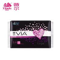 Vinda维达 VIA薇尔卫生巾 410mm*3片超薄棉柔夜用姨妈巾 21倍瞬吸防漏设计