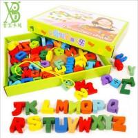 木质宝宝穿珠子锻炼动手能力12-2-3周岁儿童玩具益智大号串珠积木