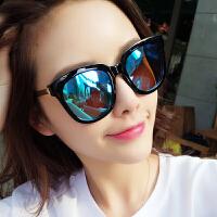 时尚韩版太阳镜女复古偏光圆脸墨镜潮明星款防紫外线太阳眼镜