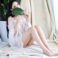 性感睡衣女夏吊带睡裙韩版公主仙蕾丝透明火辣诱惑 均码