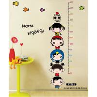 DIY卡通墙贴纸幼儿园儿童房卡通贴纸大象身高贴测量宝宝身高贴尺
