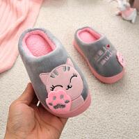 儿童棉拖鞋冬季亲子可爱宝宝小孩室内保暖棉拖男女童居家厚底防滑棉鞋