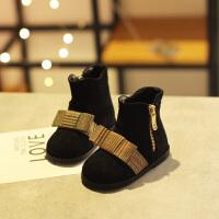 女宝宝小短靴秋冬新款2018韩版软底儿童小童公主靴子二棉女童短靴