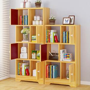 亿家达书架置物架落地简易置物柜现代简约书柜装饰转角架置物架书架