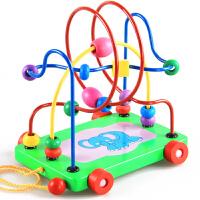 木制大号绕珠 智力拖车绕珠 串珠 宝宝婴儿童益智玩具0-1-2-3岁