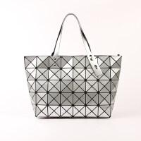 几何菱格包三角亮片菱形女包镭射折叠包单肩手提包大包包