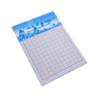主力纸品16开硬笔书法本70克双胶纸16K米字美工纸20页20本装