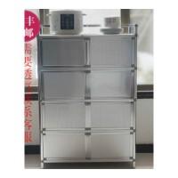 致力加厚不锈钢储物柜碗柜餐边柜阳台柜厨房柜门厅柜微波炉柜 双门