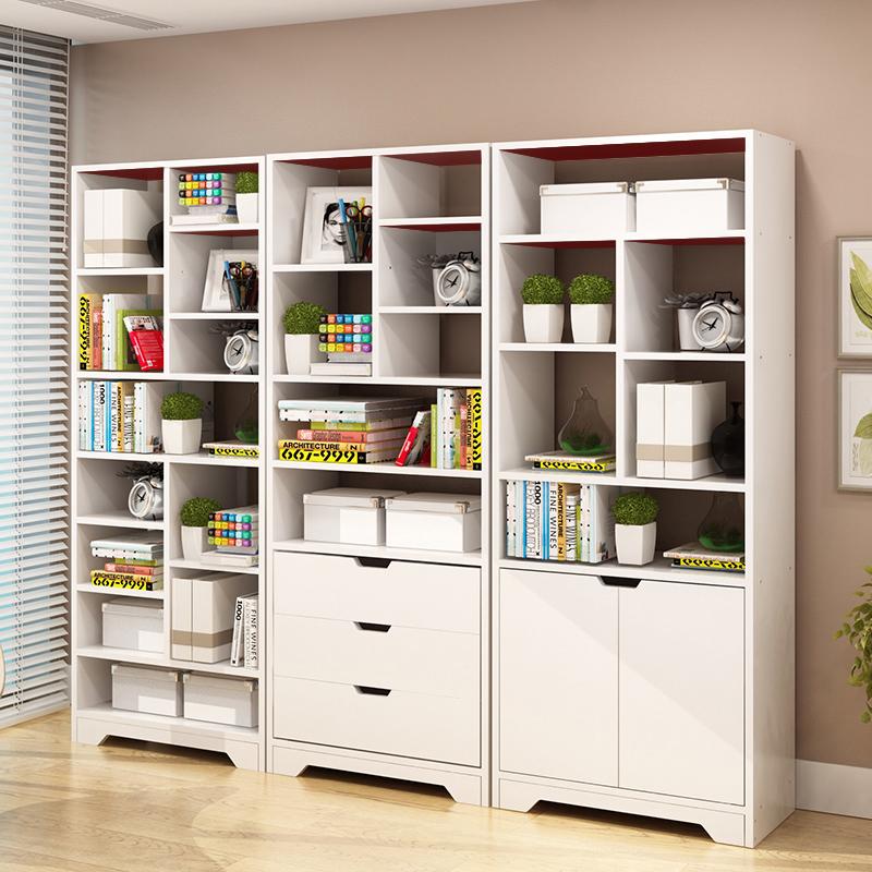 亿家达简易书架落地置物架学生书柜书架组合简约现代书橱客厅书架